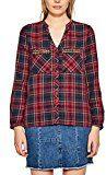 ESPRIT 097ee1f017, Camicia Donna, Multicolore (Garnet Red 620), 40
