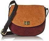PIECES Pcjolo Suede Cross Body - Borse a tracolla Donna, Rot (Port Royale), 8x18x23 cm (B x H T)
