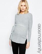 ASOS Maternity - Tunica a coste con cintura annodata in vita