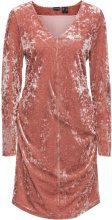 Abito in velluto con drappeggi (rosa) - BODYFLIRT