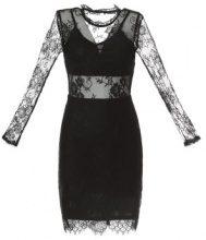 Tubino in pizzo semitrasparente con cut-out sulla schiena
