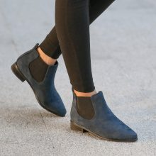 Chelsea boots in similpelle scamosciata