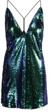WAL G. MINI STRAP BACK Vestito elegante green sequin