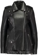 YAS YASWIONA LEATHER JACKET Giacca di pelle black