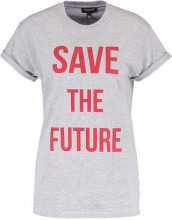Topshop SAVE THE FUTURE  Tshirt con stampa greymarl