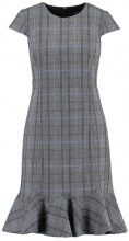 Banana Republic FLOUNCE HEM GREY PLAID SHEATH Vestito estivo grey glenplaid