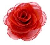 Merida fermaglio per capelli da donna, rosa di seta