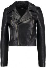 Vero Moda VMSAY YES SHORT LEATHER JACKET Giacca di pelle black