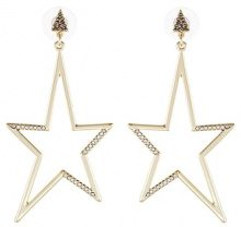 Rebecca Minkoff STARGAZING DRAMA STAR  Orecchini goldcoloured