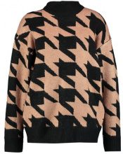 Moss Copenhagen CHECK Maglione black with macaroon