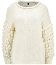Topshop BOBBLE SLEEVE JUMPER Maglione cream