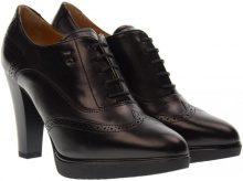 Stivaletti Nero Giardini  scarpe donna francesine con il tacco A719122D/100 NERO