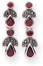 GOLDMAJOR MER015 - Orecchini pendenti da donna con marcasite, argento sterling 925