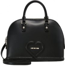 Love Moschino DOME CROCO HEART  Borsa a mano nero