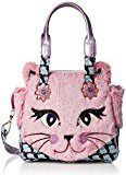 Irregular Choice Cat Call - Borse a mano Donna, Pink, 15.5x32.5x34 cm (W x H L)