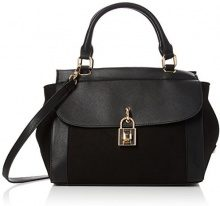 Dorothy Perkins Top Handle Lock - Borse Tote Donna, Black, 37x23x18 cm (W x H L)