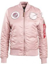 Alpha Industries Giubbotto Bomber silver pink