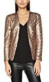 New Look Throw On Sequin Blazer, Cappotto Donna, Gold(Rose Gold), 38