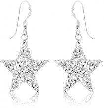 C04CREX00085XX - Orecchini pendenti da donna con cristallo, argento