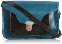 Fly London Alba, Borsa a secchiello donna Blu Blue/Black