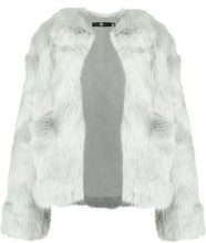 Missguided COLLARLESS FAUX COAT Cappotto invernale grey