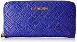 Love Moschino Portafogli Embossed Pu Blu - Pochette da giorno Donna, Blau (Blue), 10x20x3 cm (L x H D)
