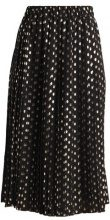 Warehouse METALLIC SPOT PLEATED SKIRT Gonna a campana black/gold