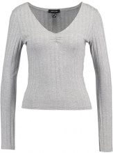 New Look WIDE LONG SLEEVE Maglietta a manica lunga grey
