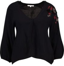 mint&berry EMBROIDERED BOLERO  Cardigan dark blue