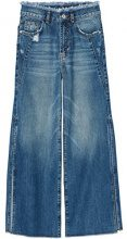 FIND Side Slit, Jeans a zampa Donna, Blu (Dark Blue), 3XL (Talla produttore: 3XL)