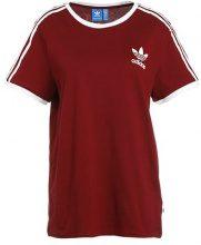 adidas Originals 3STRIPES  Tshirt con stampa bordeaux
