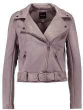 New Look BIKER Giacca in similpelle light grey