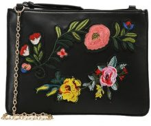 Missguided FLORAL BADGE  Borsa a tracolla black