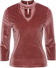 Maglia in velluto con collarino (Rosso) - BODYFLIRT