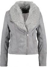 Dorothy Perkins BIKER JACKET Giacca in similpelle light grey
