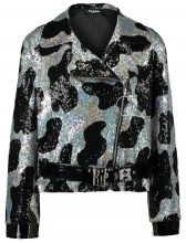 Jaded London OVERSIZED BIKER JACKET IN COW PRINT Giacca leggera multicoloured