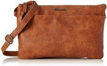 Tamaris Franca Crossbody Bag M - Borse a tracolla Donna, Braun (Cognac), 18x6x21 cm (B x H T)