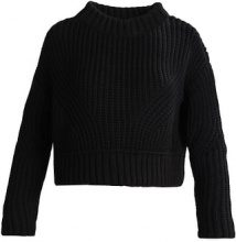 Topshop B&&B HEM STITCH BOXY CROP Maglione black