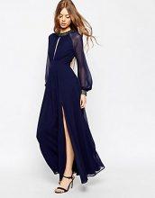 ASOS - Vestito lungo a maniche lunghe con bordi decorati