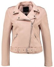 New Look COPPER SUEDETTE BIKER Giacca in similpelle light pink