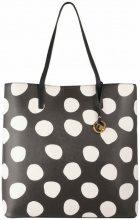 Borsa Shopping Tosca Blu  Shopping bag verticalelinea Pois