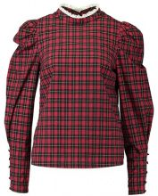 New Look TARTAN PUFF SLEEVE SHELL Camicetta red pattern