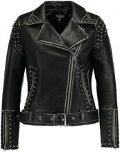 Topshop STUDDED BIKER  Giacca in similpelle black
