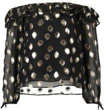 Glamorous Camicetta black gold spot