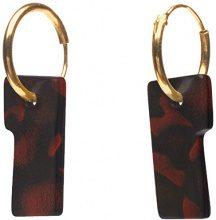 Wouters & Hendrix Orecchini da Donna Placcato Oro Altro Rosso Rettangolare