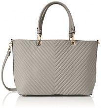 Swanky Swans Ella V Stripe Tote Bag - Borse Donna, Grey, 15x33x42 cm (W x H L)