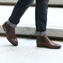 Chelsea boots in similpelle liscia