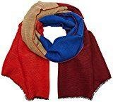 s.Oliver 39709912879, Sciarpa Donna, Blau (Blue Stripes 56G2), Taglia Unica