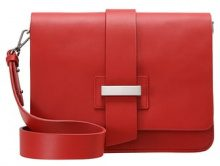 Mint Velvet STRUCTURED BOXY Borsa a tracolla red