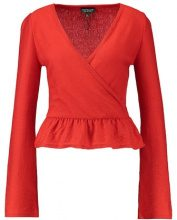 Topshop FRILL HEM Maglione red